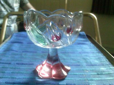 Heavy Pedestal Tulip Style Glass Bowl