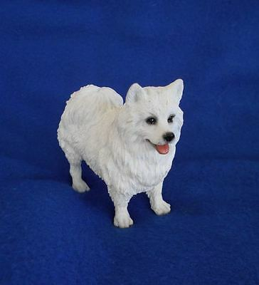 Vintage Resin Samoyed Eskimo Dog Figurine Meticulously Detailed Excellent!