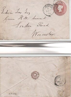 1876 Penny Pink Cover 15/11/75 Pseudo silk on bias watermark Brierley-Hill 995.
