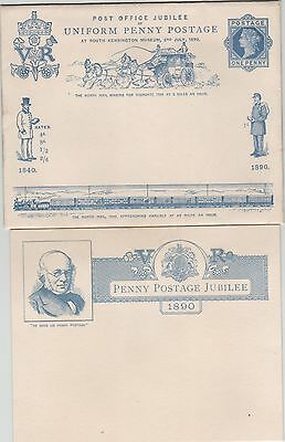 GB QV Uniform Penny Post Jubilee EP33 Envelope with insert.Fine Mint condition