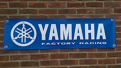 Br38 Yamaha Factory Racing Banner R1 R6 Fzr Yzf Moto Gp Garage Workshop Sign