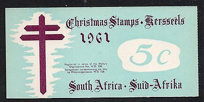 South Africa 1961 Christmas Anti - TB Seals 5c  booklet complete mint