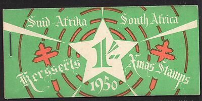 South Africa 1950 Christmas Anti - TB Seals 1/-  booklet complete mint
