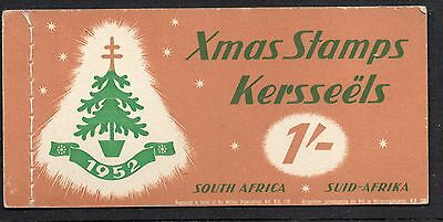 South Africa 1952 Christmas Anti - TB Seals 1/-  booklet complete mint