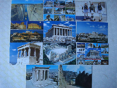 Collection of 11 x Ancient Greece postcards (unused)