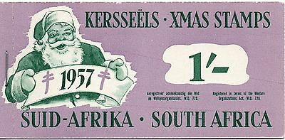 South Africa 1957 Christmas Anti - TB Seals 1/-  booklet complete mint