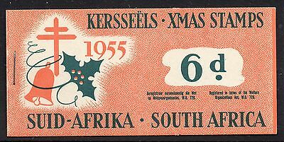 South Africa 1955 Christmas Anti - TB Seals 6d  booklet complete mint