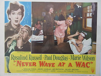 Old Original 1952 Movie Lobby Card Never Wave at a WAC Rosalind Russell