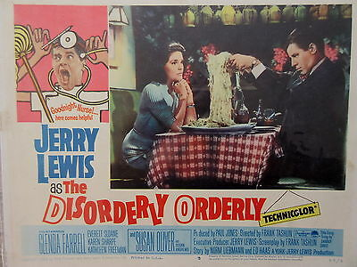Old Original 1965 Movie Lobby Card Jerry Lewis as the Disorderly Orderly