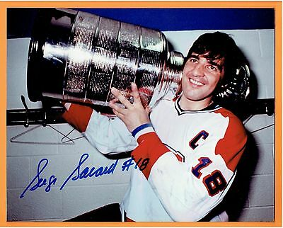 Serge Savard Montreal Canadiens Autographed  8x10 Photo with stanley cup
