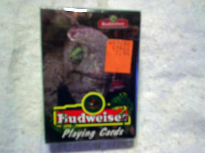 1998 BUDWEISER PLAYING CARDS Lizards louie and frank Sealed,beer,anheuser busch