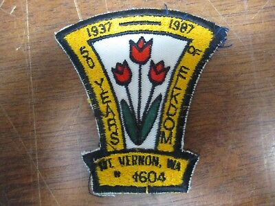 1937-1987 50 Years of Elkdom Mt Vernon Washington Patch Embroidered S3240