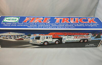 2000 Hess Truck Ladder Fire Truck with box has been displayed