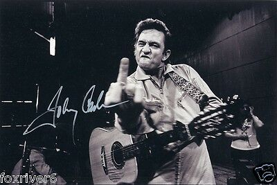 JOHNNY CASH Signed Photograph - Film Star / Country Singer & Actor - San Quentin