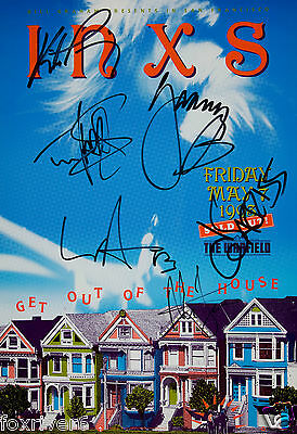 INXS Signed Window Poster - Rock Band - Preprint