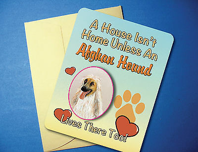 """A House Isn't Home"" - Afghan Hound - Greeting Card/Blank Note Card - sku# AH-61"