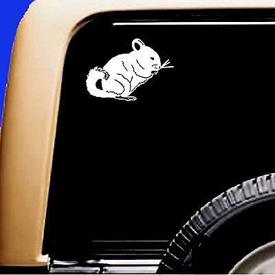 Chinchilla Rodent Sticky Pet Vinyl Car Decal Sticker
