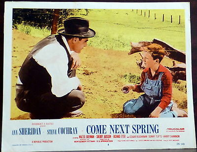 Come Next Spring LOT 2 ORIGINAL 1950s Lobbys Card Child Actor Richard Eyer