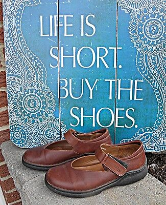 WOLKY Mary Jane's EU Size 39 US 8.5 Brown Leather Mexico