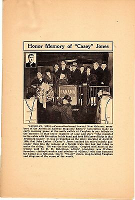 "Honor Memory Of ""casey"" Jones Newsaper Proof"