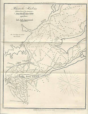 1854 Antique Nautical Map of Pensacola Harbor, Florida