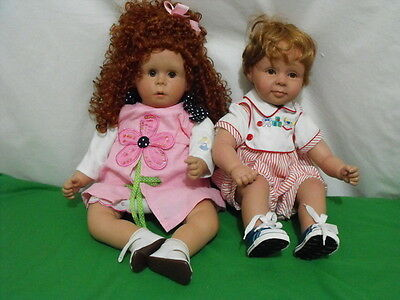 """Lot Of 2 Pat Secrist Dolls """"thoughful"""" & Unknown Girl 22-23"""" Tall Vinyl Cloth"""
