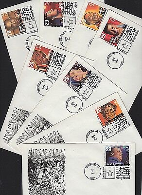 1994 American Music Sc 2861a Mark Depierre 1st cachet set of 8