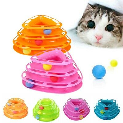 Kitten Interactive Amusement Plate Trilaminar Toy Funny Pet Toys Cat Ball Disk