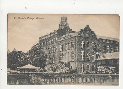 St Zaviers College Bombay India Vintage Postcard 202b
