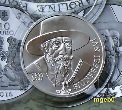 "SLOWAKEI  2016 - 10 Euro Silber""Jan Jessenius"" in BU"