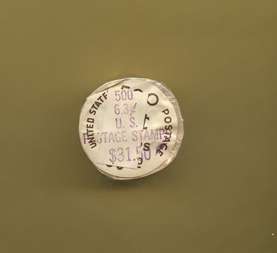 Rare 1974 6.3 Cent Stamps 500 Stamp Coil Roll Original Wrapping