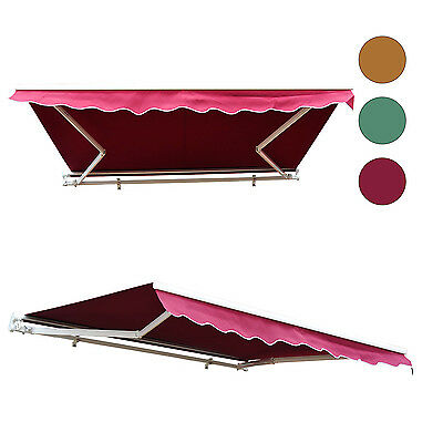 Outsunny 8'x7' Manual Retractable Waterproof Sun Shade Patio Awning Outdoor Deck