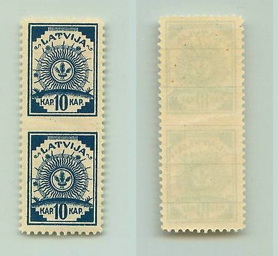 Latvia, 1919, SC 7, MNH, missing perforation, pair. f2869