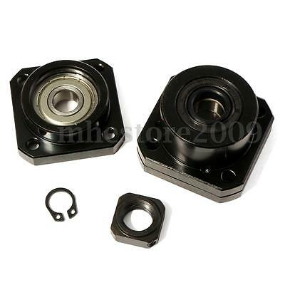 2 Set FF12/FK12 Fixed Side + Floated Side Ballscrew End Supports Bearing Block