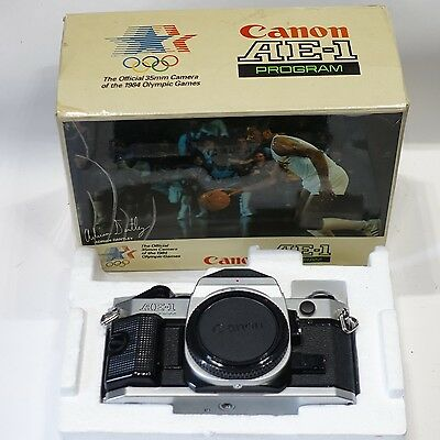 Canon AE1 Program 35mm SLR camera body, BOXED, 1984 Olympic edition