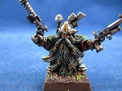 Warhammer painted master engineer with brace of pistols