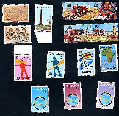 Zimbabwe 1980 Rotary + 1983 Ploughing +  1984 Heroes Day + 1981 Disabled Mnh