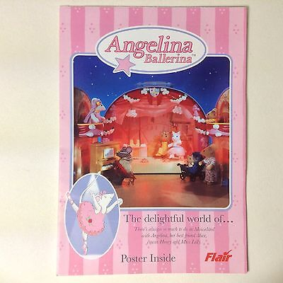 RARE 2004 Angelina Ballerina Toy Consumer Product Leaflet Poster (Flair UK)