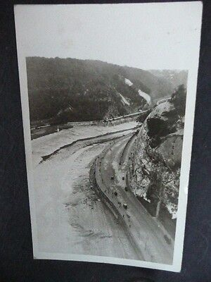 Postcard Real Photo From Clifton Suspension Bridge Onto The River Avon Somerset