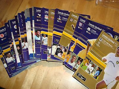 Full season of Leeds United homes 2000-01 - 30 programmes