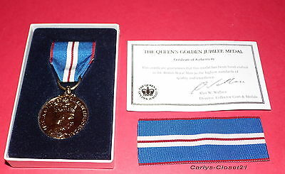 THE QUEEN'S GOLDEN JUBILEE MEDAL 1952-2002 * Genuine British Army / SAS /RAF *