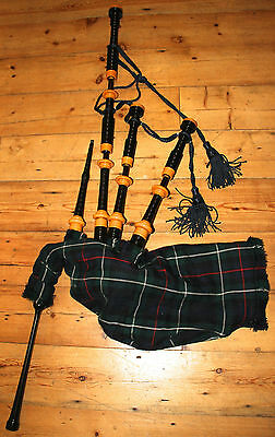 Hardie Army Highland Bagpipes -Bannatyne Pipe Bag, Cords, Reeds - Ready To Play