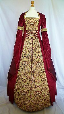 Medieval Dress Renaissance Pagan Wedding Gown Handfasting Custom Made To Size