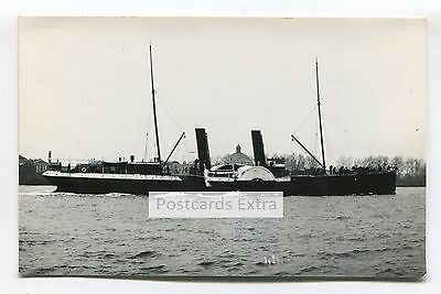 """Paddle steamer """"Claud Hamilton"""" by unknown coast - old postcard-sized photo"""