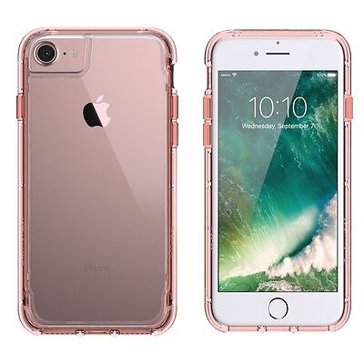 Griffin Survivor Clear Case Shockproof for iPhone7,6,6S Rose Gold/Clear GB42313