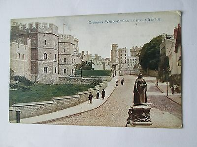 Postcard of Windsor Castle Hill & Statue C33202 unposted Photochrom Co Ltd