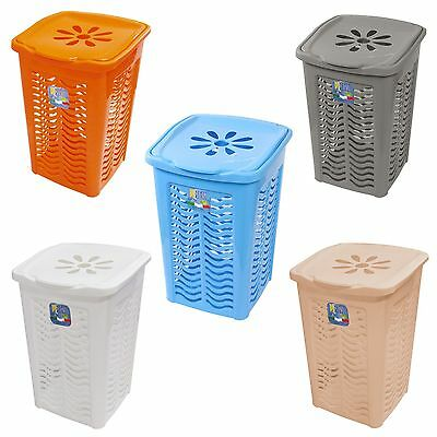 50 Litre Laundry Washing Basket Bin Hamper Holes Storage Home Large Capacity NEW