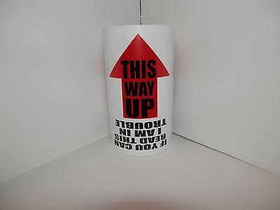 THIS WAY UP THIS SIDE UP THIS END UP 4x2.5 Warning Sticker Label 125/rl