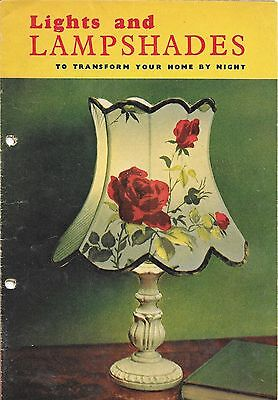 Lights and Lampshades very old booklet.