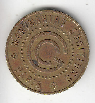 France Paris Theatre Place Pigalle Token C1920   7R              By Coinmountain